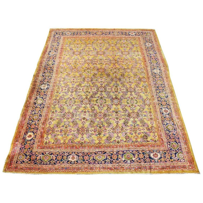 Antique Sultanabad Carpet 14 Ft 1in By 10ft 6in Circa