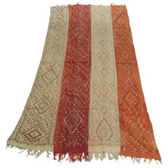 19th Century Large Handwoven Wall Hanging Textile