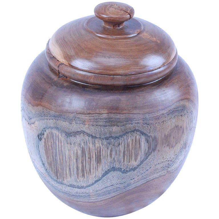 Teak Root Jar with Lid