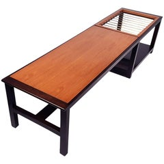 Edward Wormley for Dunbar Table or Bench with Magazine Display