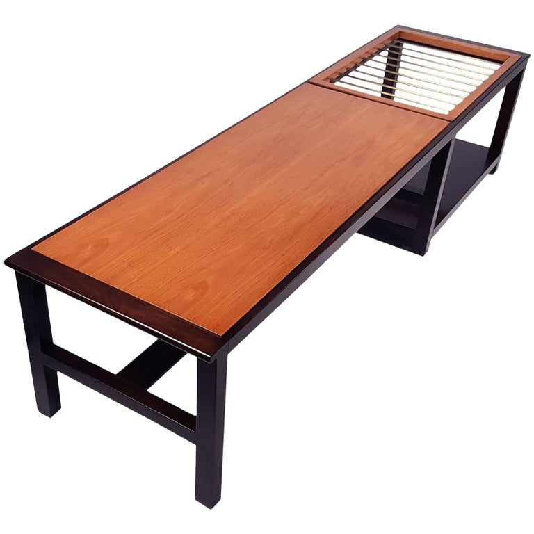 Edward Wormley for Dunbar Table or Bench with Magazine Display For Sale