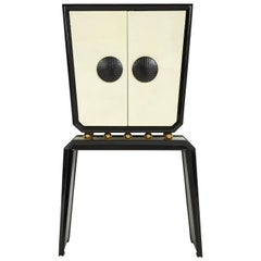 Trocadero Lacquered Goatskin Console and Cabinet