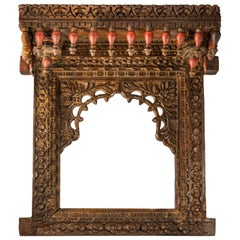 Wooden Niche Carved, India 18th Century