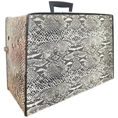 Vintage Faux Snakeskin Small Pet Carrier Anhauser Busch