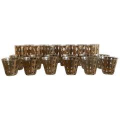 Set of 24 Culver Pisa Cocktail Glasses  22-Karat Gold Barware
