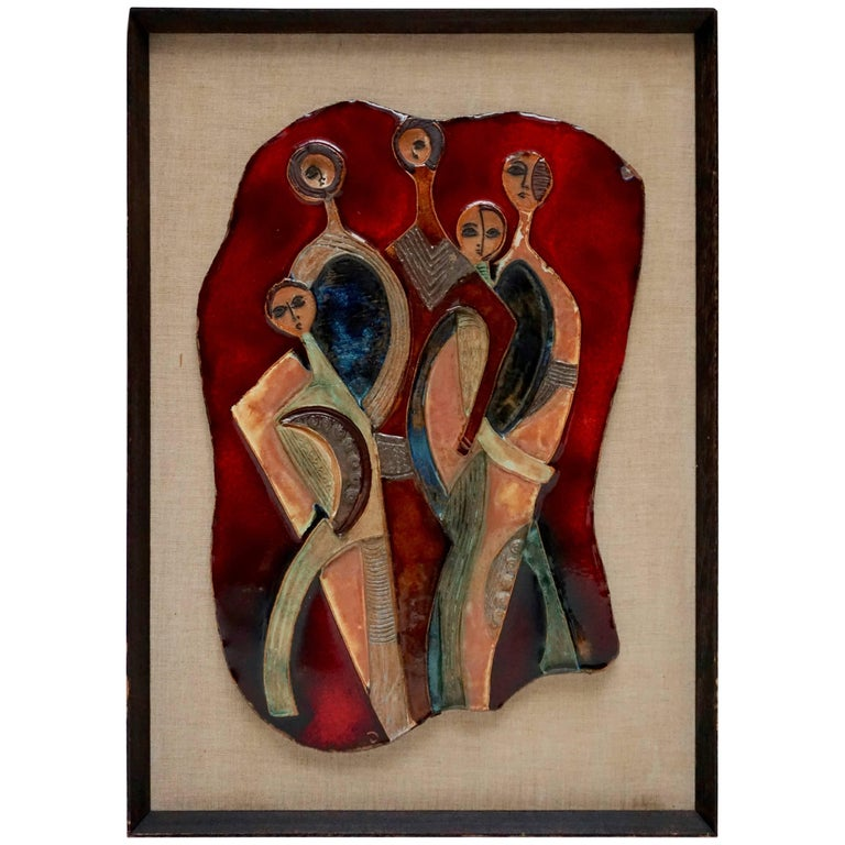 Figural Ceramic Wall Hanging Sculpture