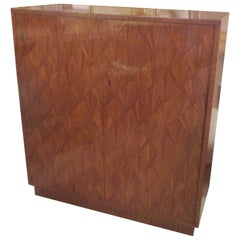 Exquisite Parquetry Cabinet in the Jean-Michel Frank Manner