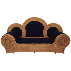 Mid-20th Century Biba Wicker Sofa