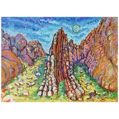Original Painting of Far West Texas, Dog Canyon