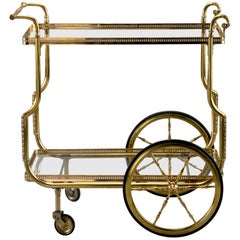 Brass and Glass Bar or Tea Trolley