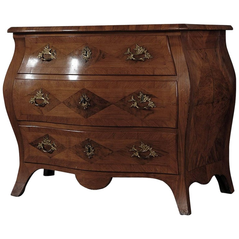 "Swedish Period Baroque ""Bombée"" Chest of Drawers, circa 1750"