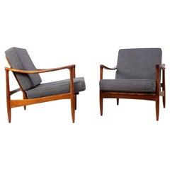 Pair of Danish Teak Armchairs