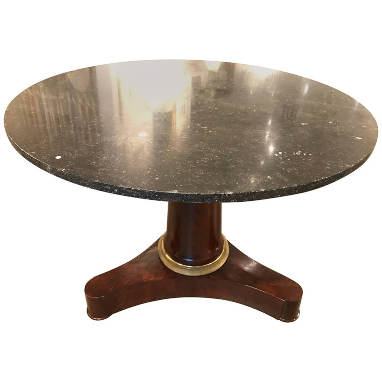 First Quarter of the 19th Century French Empire Pedestal Table