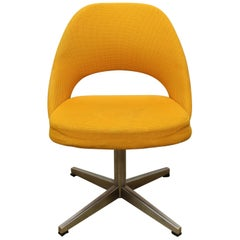 Eero Saarinen for Knoll International Swivel Chair with Golden Yellow Upholstery