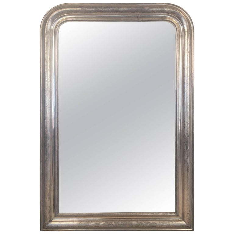 Louis Philippe Silver Gilt Mirror (H 46 x W 30 1/2)