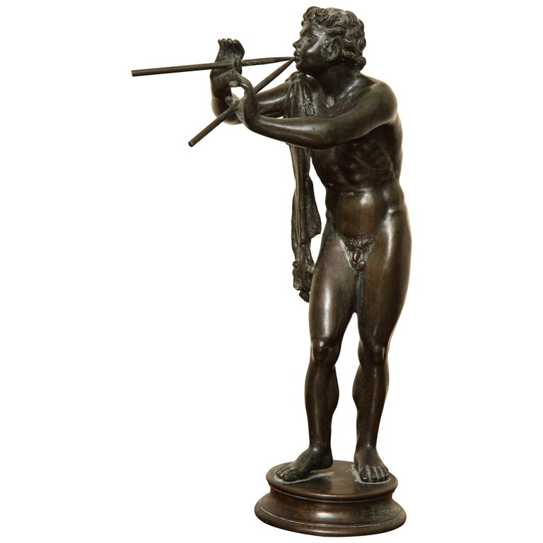 Midcentury Bronze of Pan Playing the Pipes