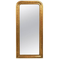 Large Louis Philippe Gilt Mirror (H 72 x W 31