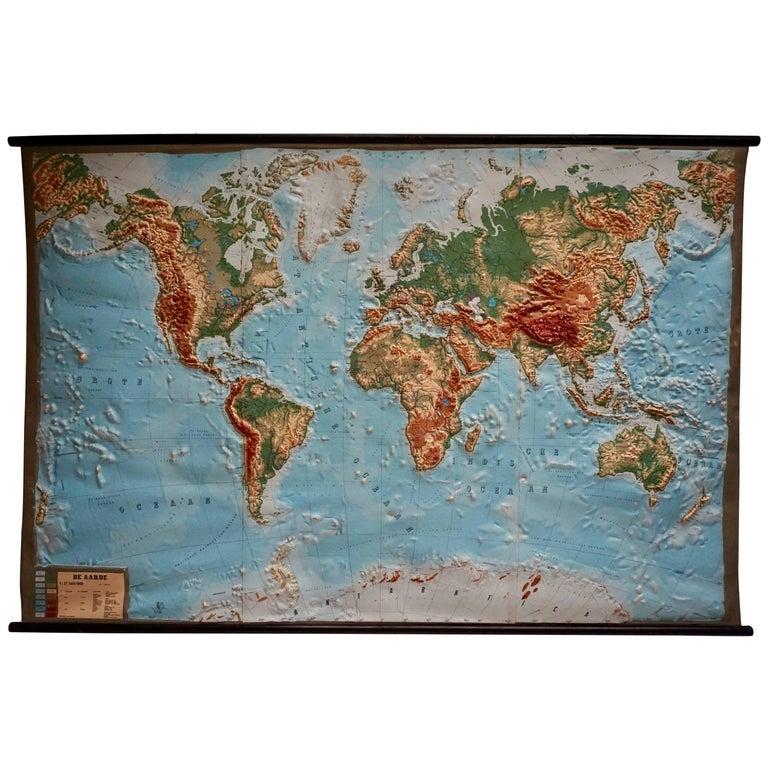 World Relief Map For Sale