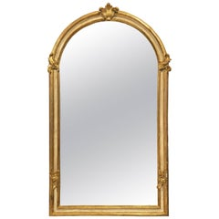 Large Italian Gilt Hall Mirror (H 65 x W 37)