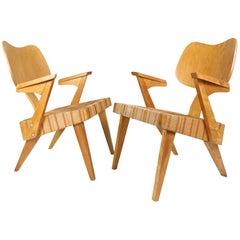 "Pair of Original 1950s Russell Spanner ""Ruspan"" Chairs"