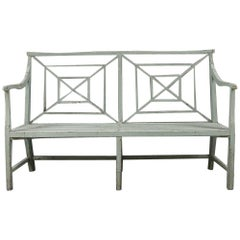 Mid-19th Century Painted Garden Bench