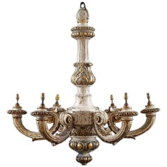 Early 20th Century Carved Chandelier