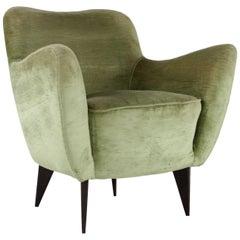 """Perla"" Armchair by Veronesi for I.S.A. Bergamo, 1950s, Italy"