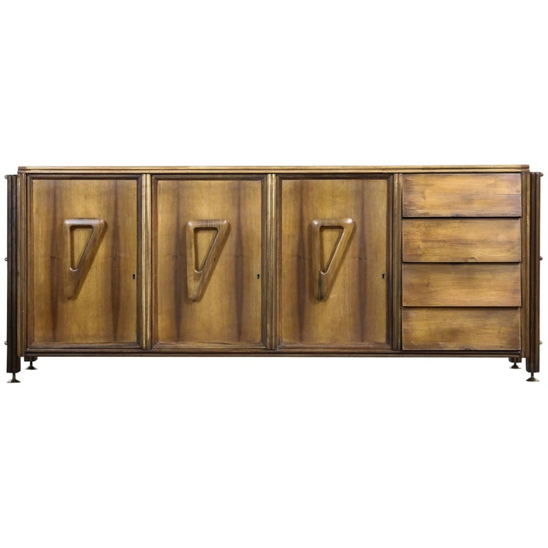Italian Rosewood Sideboard, 1960s For Sale