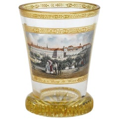 Viennese Enamelled and Gilded Transparent Glass Cup