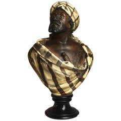 19th Century French Terracotta Bust of an Arab