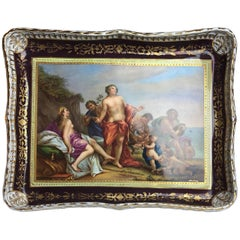 Viennese Porcelaine Tray, Centre Dish 'Bacchus and Ariane'
