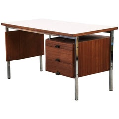 French Vintage Teak Desk, 1960s