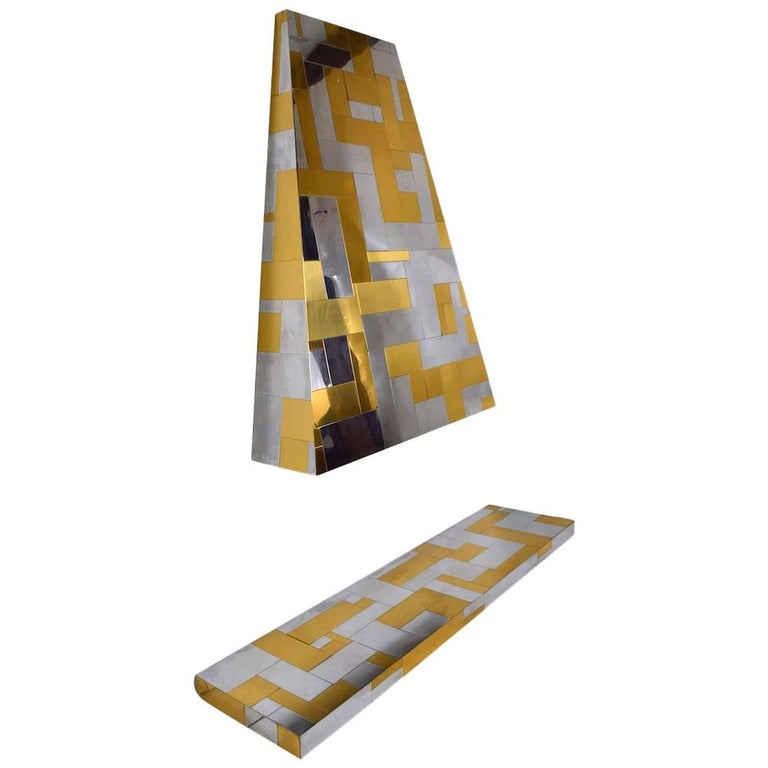 Paul Evans Cityscape Style Fireplace Shelf and Hood