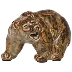 Knud Khyn for Royal Copenhagen, Ceramic Bear, Denmark, circa 1930s