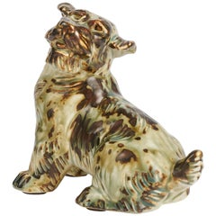 Knud Khyn for Royal Copenhagen, Ceramic Terrier, Denmark, circa 1950s