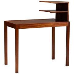 Side Table with Bookshelf Designed by Josef Frank for Svenskt Tenn, Sweden, 1950