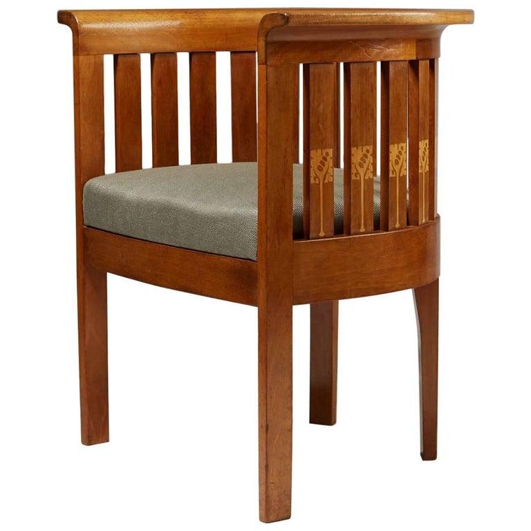 Chair, Art Nouveau, Anonymous, Sweden, 1900s For Sale