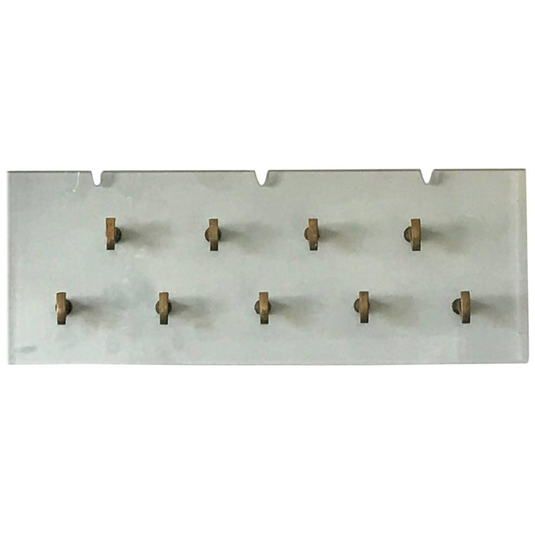 Osvaldo Borsani Glass Coat Rack for Tecno For Sale