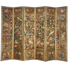 Early 18th Century Dutch Leather Screen