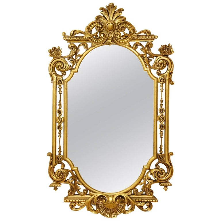 George II Style Giltwood Mirror For Sale