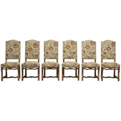 Vintage Set of Six French Dining Chairs
