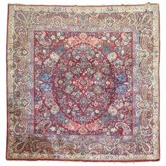 Square Persian Sarouk Rug