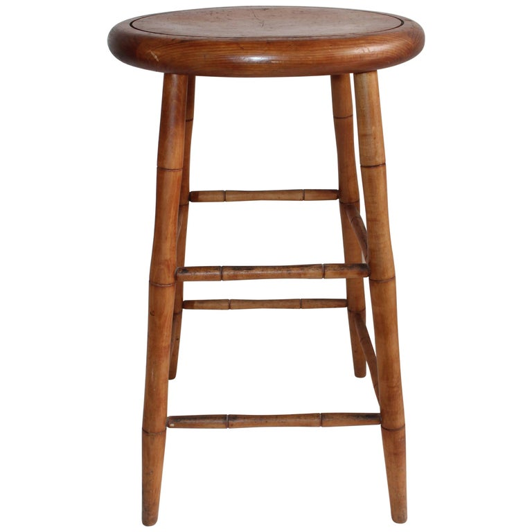 Bar Stool In Shaker Style Early 20th Century For Sale At