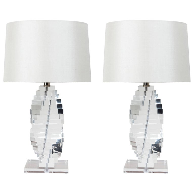 MidCentury Lucite Table Lamps  For Sale