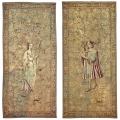 Pair of Palatial 17th-Early 18th Century Antique Franco Flemish Tapestry Panels