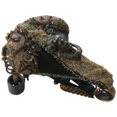 Neoclassical Funky Mixed-Media Bicycle Seat Sculpture