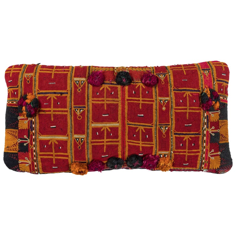Afghani Pashtun Embroidery Pillow