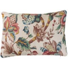 Vintage Linen Floral Pillow