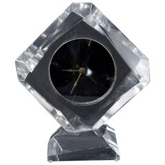 Vintage Lucite Table Clock