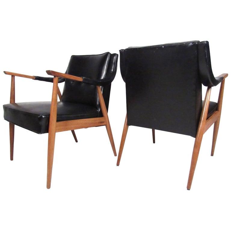 Pair of Vintage Modern Armchairs
